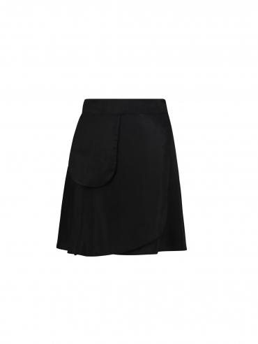WRAP SKIRT BLACK skirt